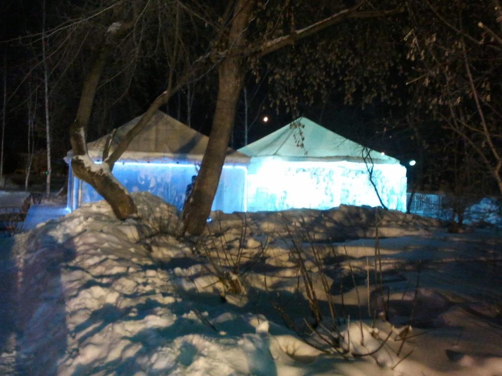 Зимние шатры, каркасно-тентовые павильоны для зимнего отдыха