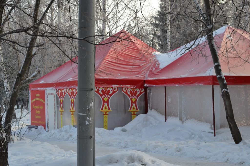 Изготовление и установка зимнего шатра-павильона