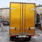 Ворота золотистые на грузовик Ниссан